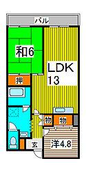 キャッスル長沢[4階]の間取り
