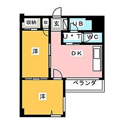 第7スカイビル[2階]の間取り