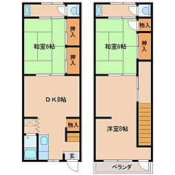[一戸建] 兵庫県尼崎市栗山町2丁目 の賃貸【/】の間取り