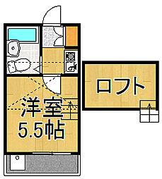 ホーユーハウス大沢[2階]の間取り
