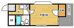 シャトーリヨン[5階]の間取り
