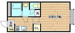 大阪府茨木市総持寺1丁目の賃貸マンションの間取り