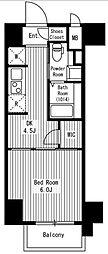東京メトロ日比谷線 神谷町駅 徒歩7分の賃貸マンション 7階1DKの間取り