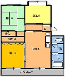 第2本橋フラワーマンション[106号室]の間取り