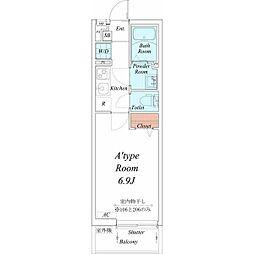 名古屋市営鶴舞線 川名駅 徒歩14分の賃貸マンション 1階1Kの間取り