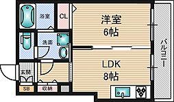 シャーメゾンJIJI 1階1LDKの間取り