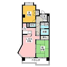 ベルパレス千代田[8階]の間取り