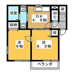 ファミールひろいIII[1階]の間取り