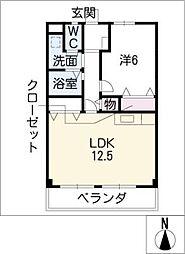 TOWASTAGE三郷[3階]の間取り