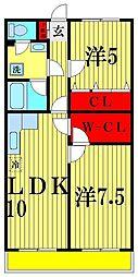 長谷川レジデンス[4階]の間取り