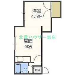 北海道札幌市東区北二十三条東9丁目の賃貸アパートの間取り