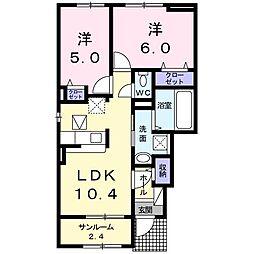 植上町アパート[0101号室]の間取り