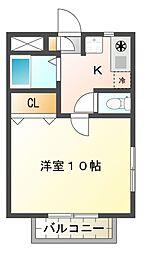 ふじハイム三山[1階]の間取り