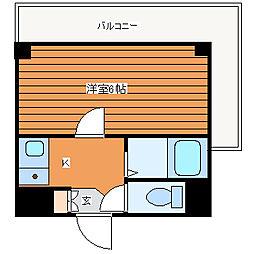 ハイコート駒川[3階]の間取り