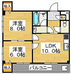 ガーデンヒルOGI[4階]の間取り