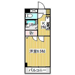愛知県名古屋市中川区荒子1の賃貸マンションの間取り