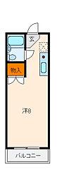 兵庫県神戸市垂水区泉が丘1丁目の賃貸マンションの間取り