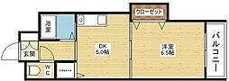ノルデンハイム東三国[12階]の間取り