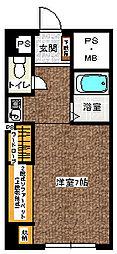 プレジール湯沢 5階ワンルームの間取り