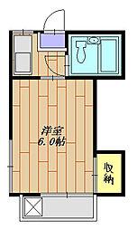 神奈川県相模原市南区南台4丁目の賃貸アパートの間取り