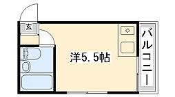 岡本ビラ[206号室]の間取り