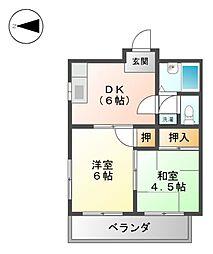 トレンディーイマ2[2階]の間取り
