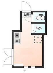 東京都文京区大塚6の賃貸アパートの間取り