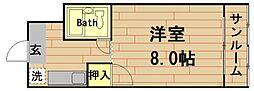 奥内土佐堀東マンション[3階]の間取り