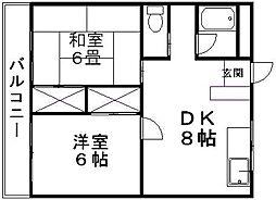 新潟県新潟市中央区笹口2丁目の賃貸マンションの間取り