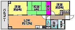 LiAnge富田林[2階]の間取り