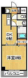 ルーラル八番館[203号室]の間取り