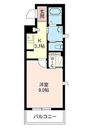 ルバージュ63[1階]の間取り