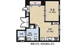 広島県広島市中区吉島西3丁目の賃貸マンションの間取り