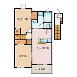 Y PLACE IV[2階]の間取り