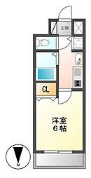 プレサンス名古屋STATIONザ・シティ[2階]の間取り