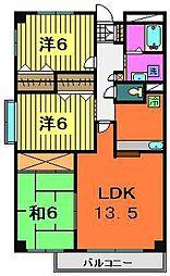 アルデールY・K[3階]の間取り