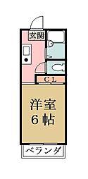 ハイツ16[101号室]の間取り
