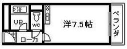 プレアール春木駅前[403号室]の間取り