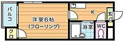 ギャラン小芝[201号室]の間取り
