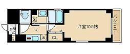 三条双月堂 4階1Kの間取り
