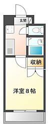 UniverCity築地A館[206号室]の間取り