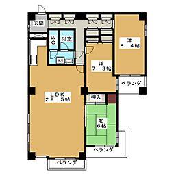 三条高倉アーバンライフ[6階]の間取り