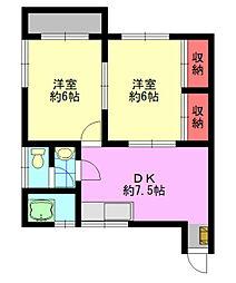 恵アパート[201号室]の間取り
