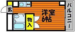 CASA大元[3階]の間取り