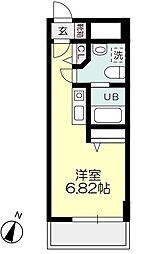 ライフゾーン玉川[7階]の間取り