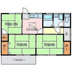 [一戸建] 三重県松阪市大足町 の賃貸【/】の間取り