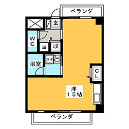 カーサフェリーチェ[2階]の間取り