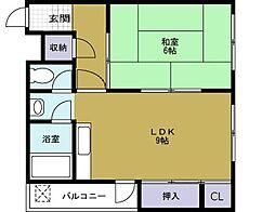 境川マンション[4階]の間取り