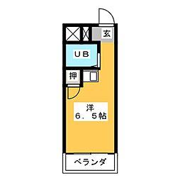 幸川マンション 縁[3階]の間取り