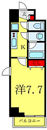JR埼京線 板橋駅 徒歩5分の賃貸マンション 4階1Kの間取り
